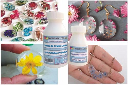 resina cristal vidrio liquido epoxi artesanias y bijouteri