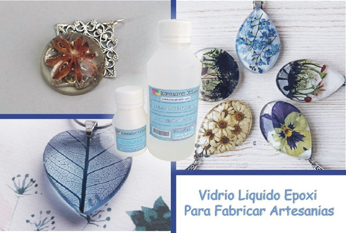 resina cristal vidrio liquido epoxi para bijouteri y joyas