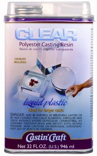 resina de fundición transparente con catalizador de 32 onz