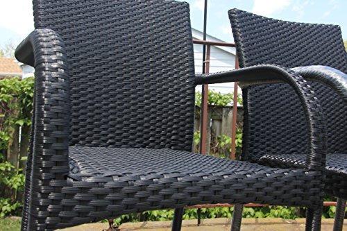 resina de patio al aire libre de jardín silla de brazo w22