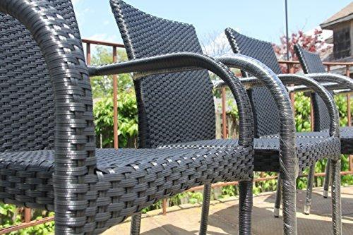 resina de patio al aire libre de jardín silla de brazo w34