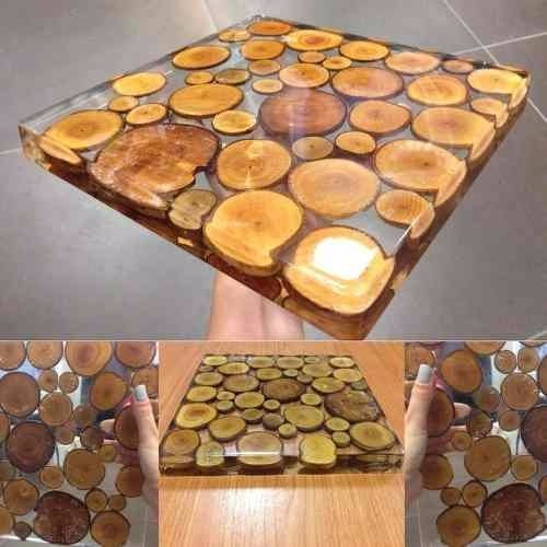 resina epóxi cristal incolor para madeira, mesas c/ 1,0 kg