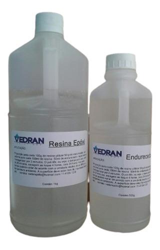 resina epoxi cristal rigida kit 1,5 kg