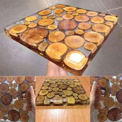 resina  epóxi para madeira e mesas italiana 1,0 kg