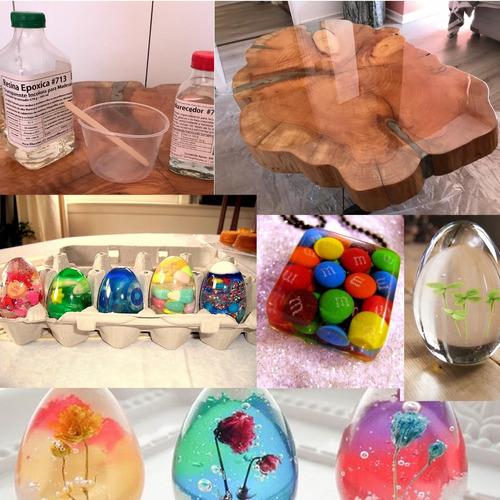 resina epóxica para maderas transparente 1 litro + 1 color.