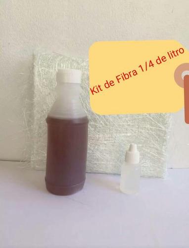 resina kit #1 1/4 de litro fibra de vidrio catalizador