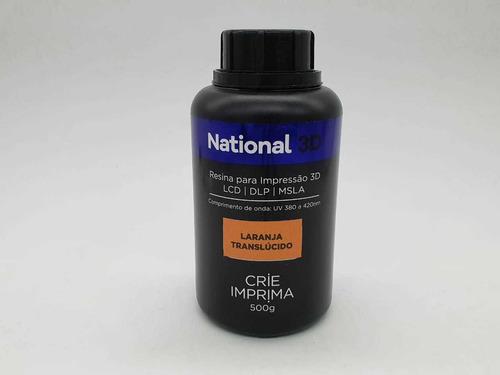 resina  - laranja - translúcida - national 3d - 500 ml