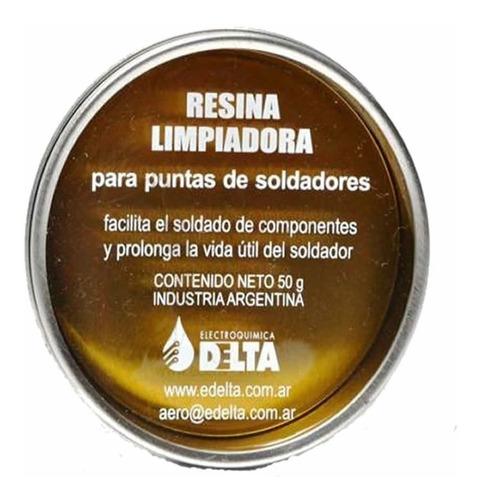 resina limpiadora soldador delta 50gr limpia punta soldador