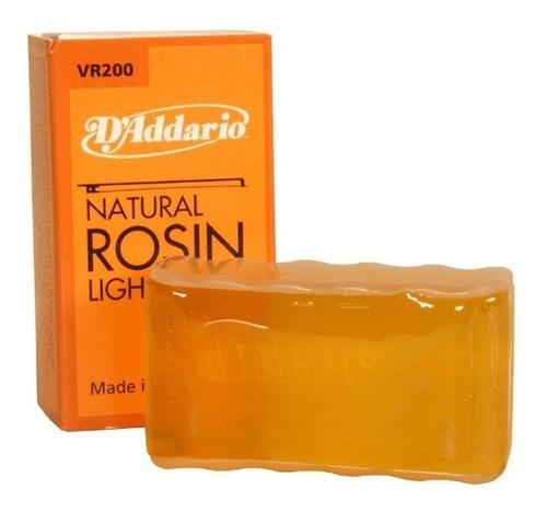 resina natural daddario vr200 para arco violin cello viola