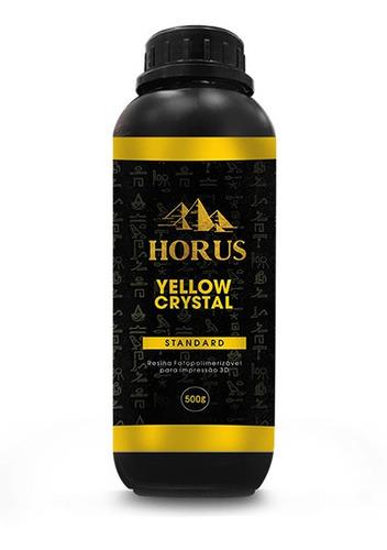 resina padrão - horus - yellow crystal standard de 500 gramas