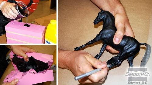 resina poliuretano liquida moldes onyx negra x108gr figuras