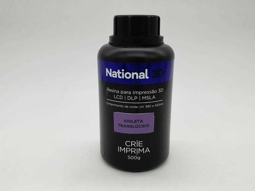 resina  - violeta - translúcida - national 3d - 500 ml