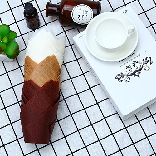 resinta 150 piezas tulip copas de papel para hornear cupcake
