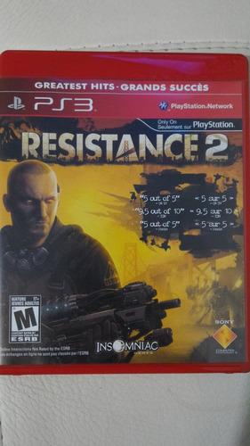 resistance 1 y 2 - ps3 - (2 discos - 2 juegos)