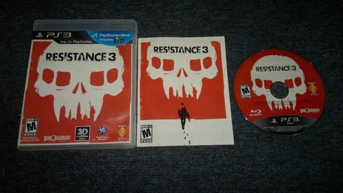 resistance 3 completo play station 3,excelente titulo