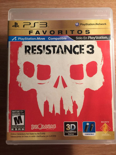 resistance 3 , para ps3 como nuevo