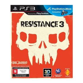 Resistance 3 Ps3 Jogo Novo Original Lacrado Mídia Física