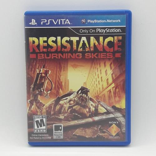 resistance burning skies ps vita midia fisica jogo game