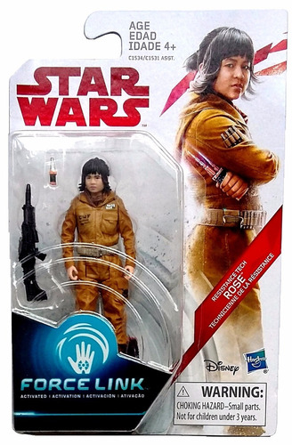 resistance tech rose star wars: the last jedi hasbro 3 3/4