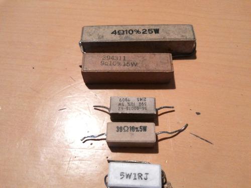 resistencia 39 ohm x 5 watts ceramica  pieza usada taller