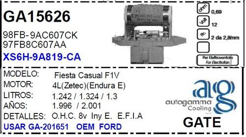 resistencia electro ventilador ford fiesta casual autogamma
