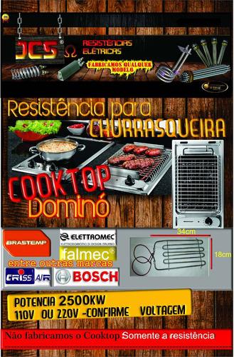 resistencia elétrica cooktop elettromec  churrasqueira,2700w