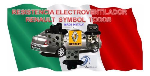 resistencia para electroventilador renault symbol todos g c