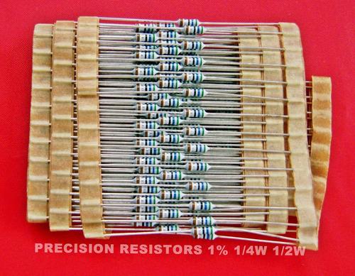resistencias de precisión al 1% de 1/4w 1/2w, uso electronic