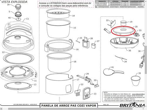 resistência 127v panela de arroz pa5/ph5 britania/philco