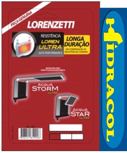 resistência acqua chuveiro storm ducha star 220v lorenzetti
