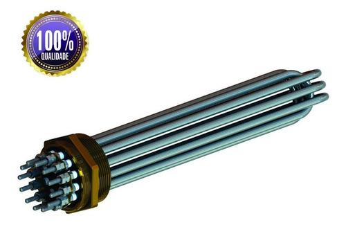 resistência elétrica aquecedor inox boiler heliotec caldeira