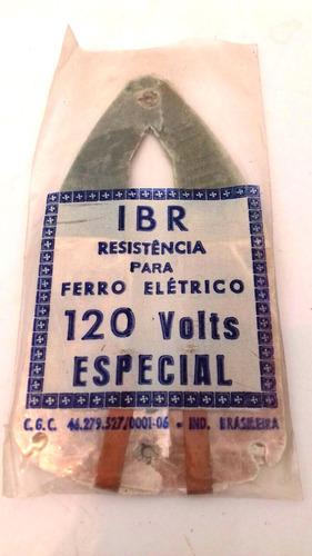 resistência ferro de passar roupa elétrico antigo 120v mod.2