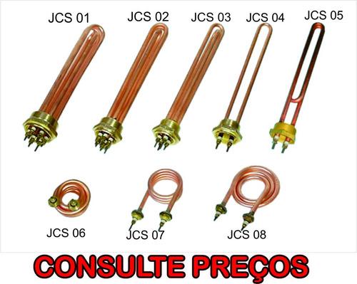 resistências elétricas em  cobre tipo u