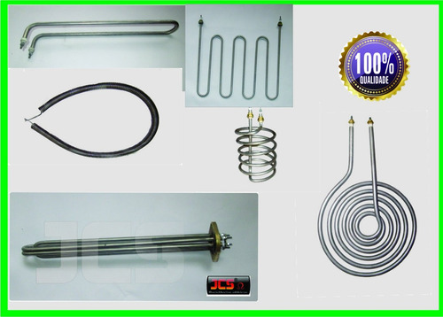 resistências elétricas  inox  destilador,   espiralada 2200w