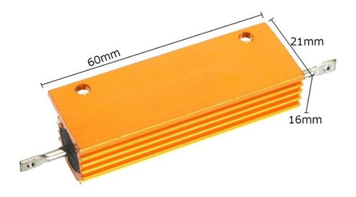 resistor 1r 100w aluminio resistor de carga