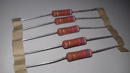 resistor de potencia 4k7 3w lote com 5 peças