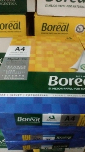 resma a4 boreal 75 grs  x 10 mercado envios solo 1 pack