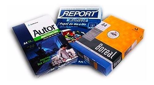 resma a4 de 75g autor-boreal o report envio cap x 15u gratis