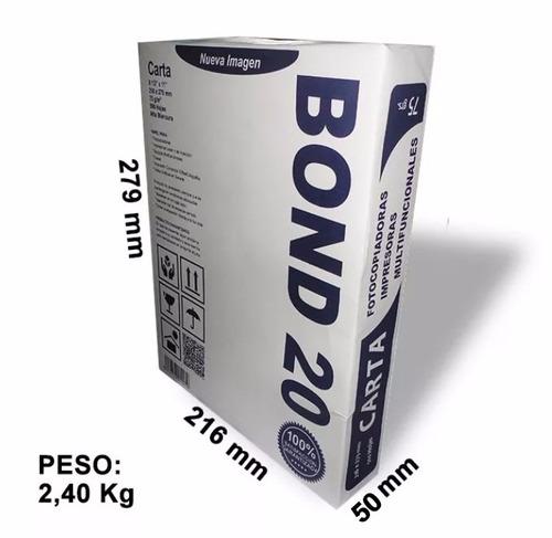 resma de papel carta bond 20 importado extra blanco