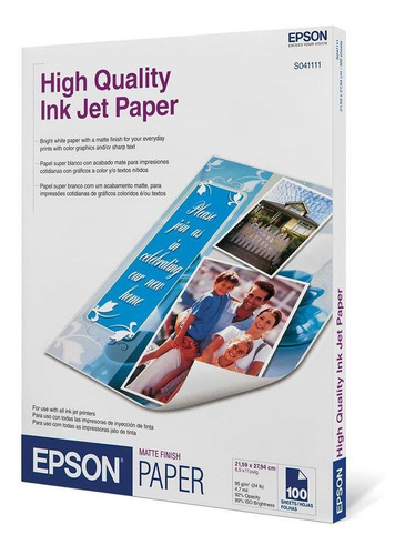 resma de papel high quality ink jet s041111-ml