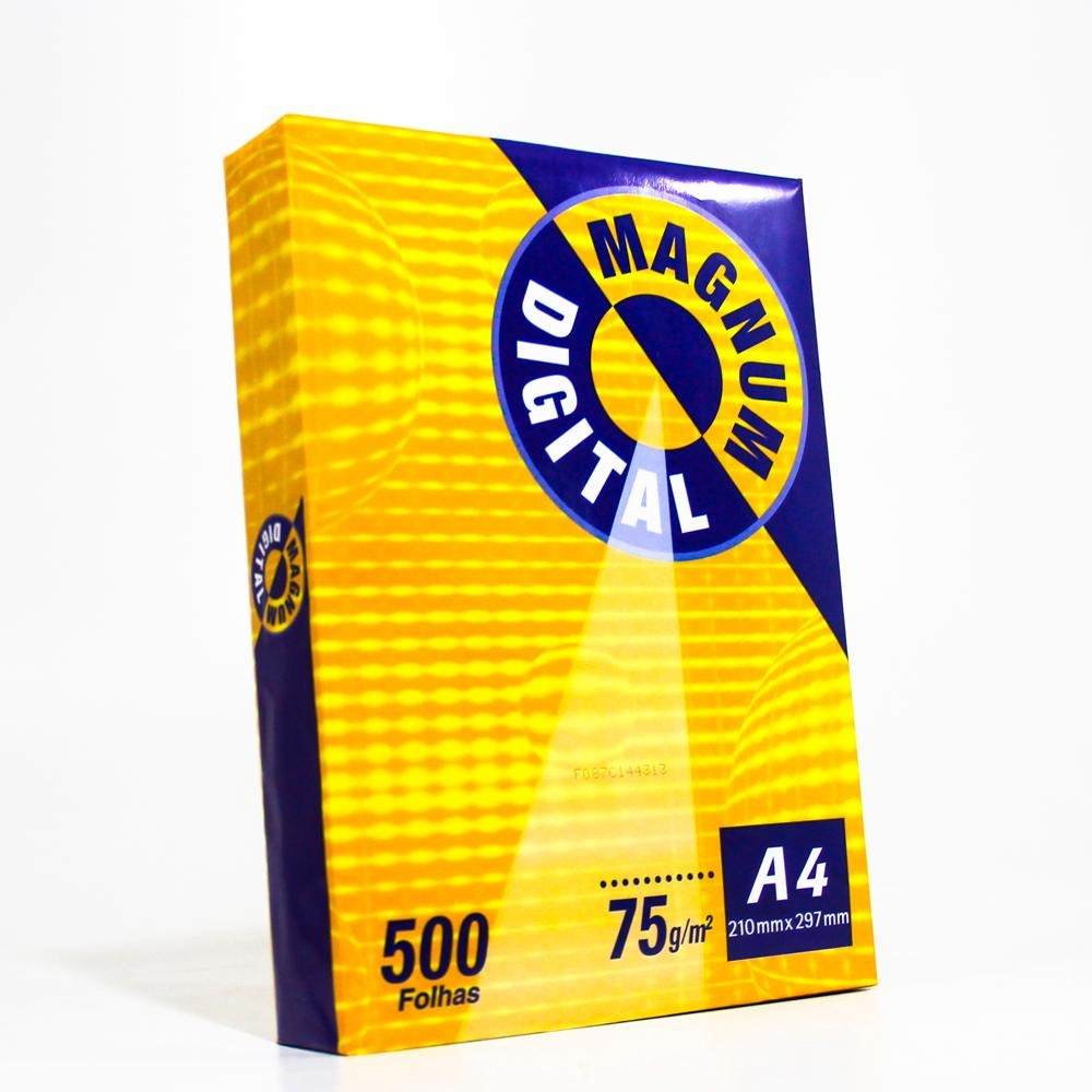 Resma De Papel Sulfite A4 500f 75g 210x297mm Branco Magnum