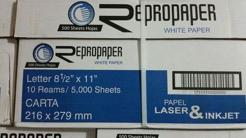 resma de papel tamaño carta repropaper caja o bulto