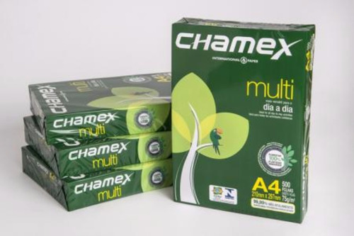 resma papel a4 75g chamex premium 500 hojas (caja x 10u.)