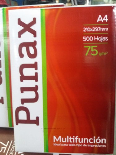 resmas a4 75 grs punax ledesma 500 hs excelente