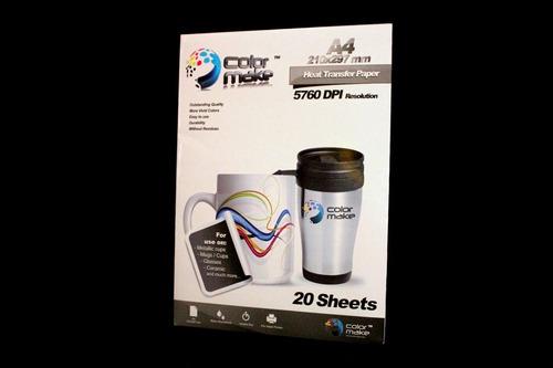 resmas papel 20hojas para sublimar sublimacion color make