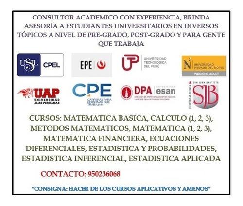 resolucion de examenes virtuales de matematica y estadistica
