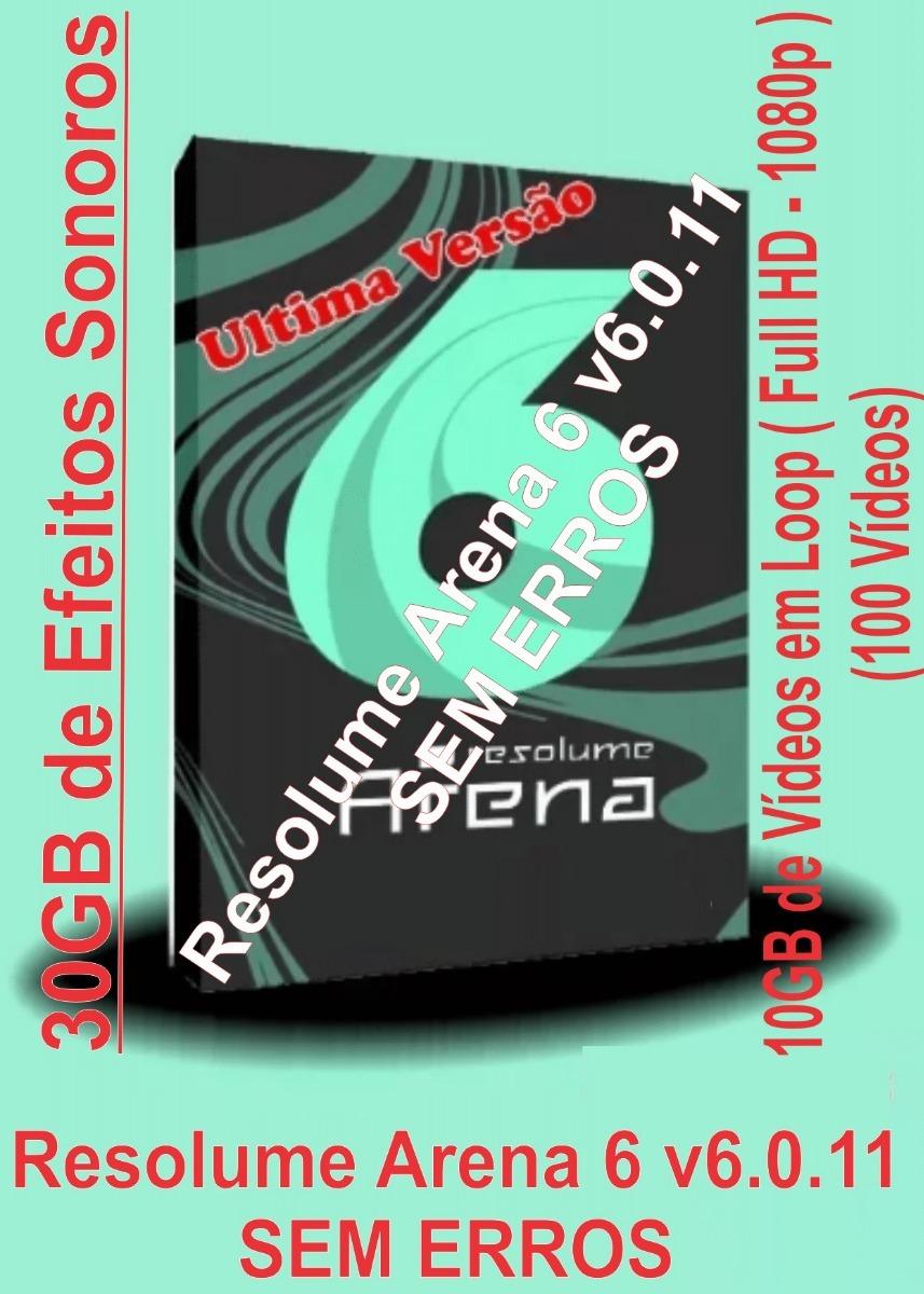 Resolume Arena 6 V6 1 30gb De Efeitos Sonoros + 10gb Loop
