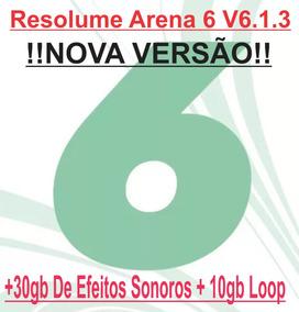 Resolume Arena 6 V6 1 3+ 30gb De Efeitos Sonoros+ 10gb Loop
