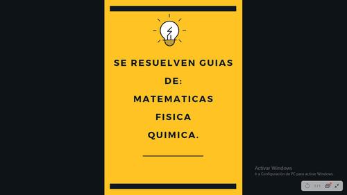 resolver guias de matematica, fisica y química