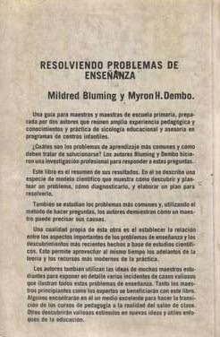 resolviendo problemas de enseñanza / bluming - dembo